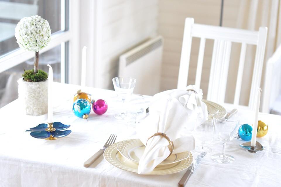 Et nytaarsbord med pling og genbrug