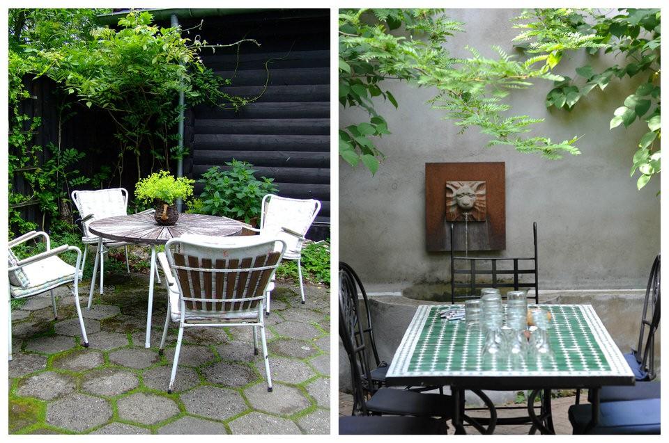 Spisepladser i haven
