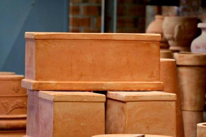 Terracottakrukke Cassetta liscia