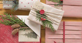 Gavepapir foldet på japansk