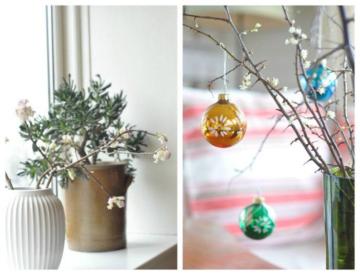 Julebuketter fra haven - blomstrende grene