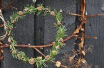 Julekranse - med valmuefrø og gran