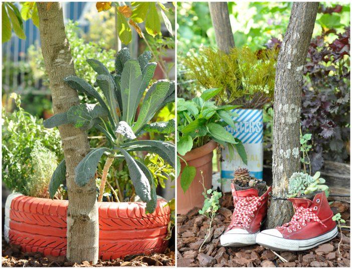 Genbrugsideer med gamle dæk og sko