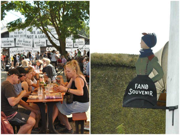 Festivalborde og Fanø emaljeskilt