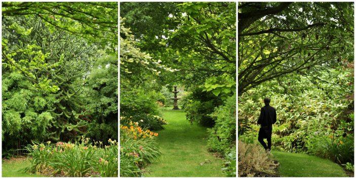 Vistas og gange i Peter Hansens have